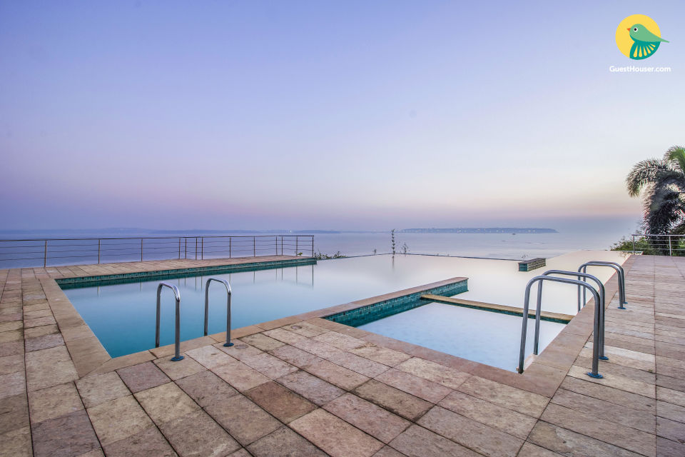 Homely 2 BHK for six with an infinity pool