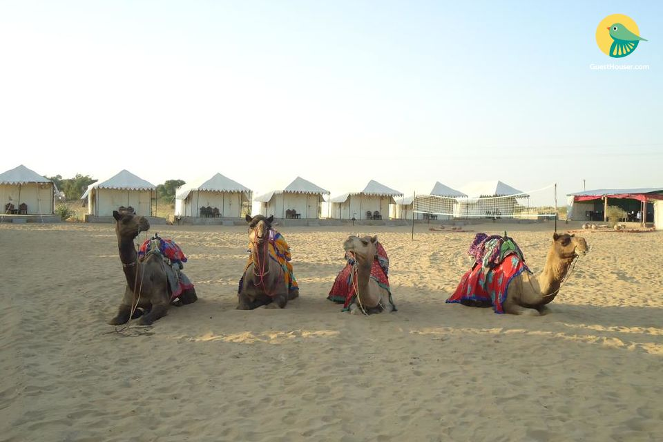 Super deluxe tents in jaisalmer accommodation for three
