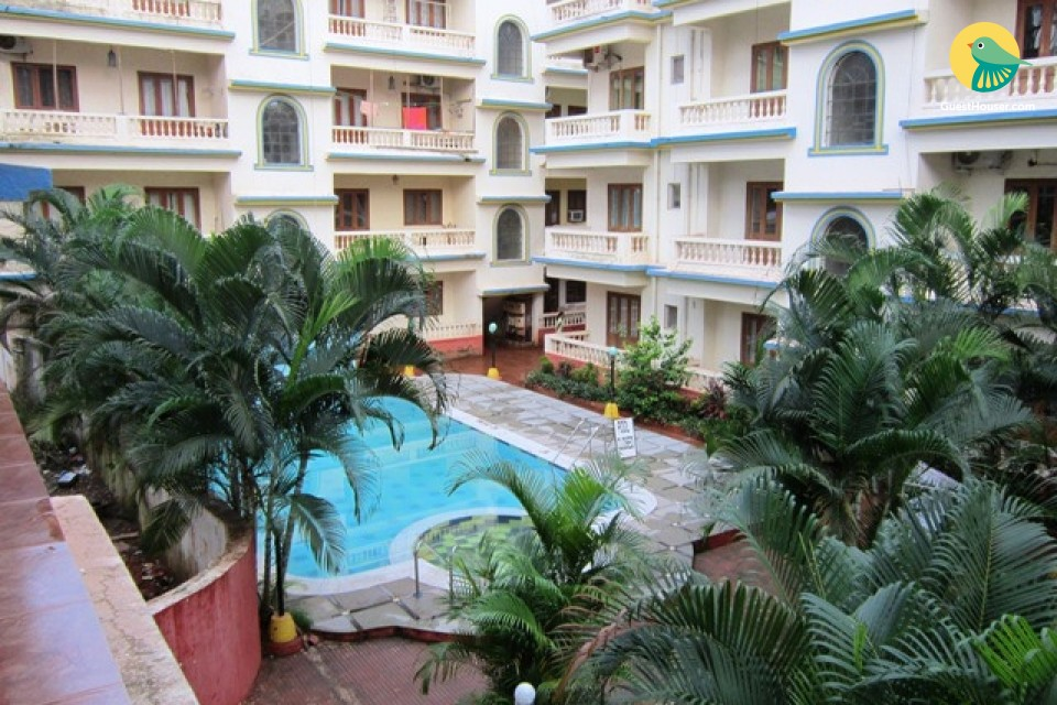 Well-appointed 2 BHK for six, close to Calangute Beach