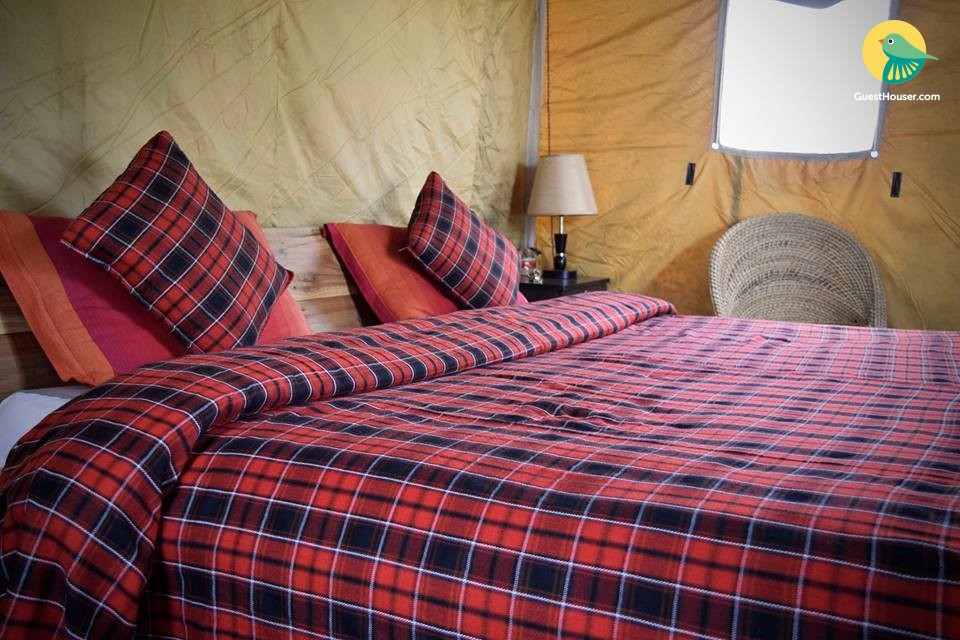 Elegant tent for four, ideal for a peaceful stay