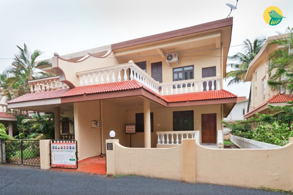 Well-furnished 3-bedroom villa, 1.5 km from Calangute beach