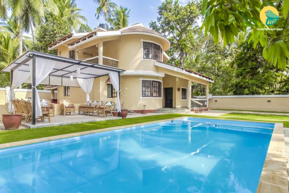Lavish three-bedroom villa, 2.8 km away from Calangute Beach