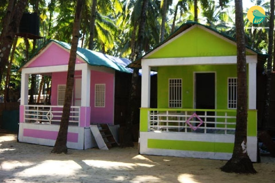 AC Huts ideal for travellers on palolem beach