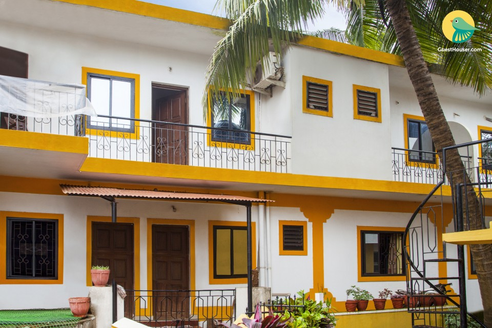 Homely accommodation for three, close to Baga Beach