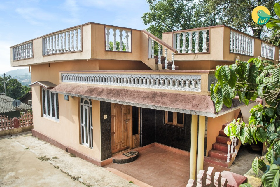 Relaxing 3-BR stay for friends, near Madikeri Fort