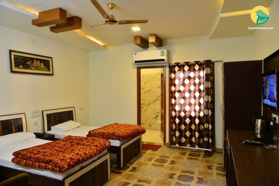 elegantly furnished rooms