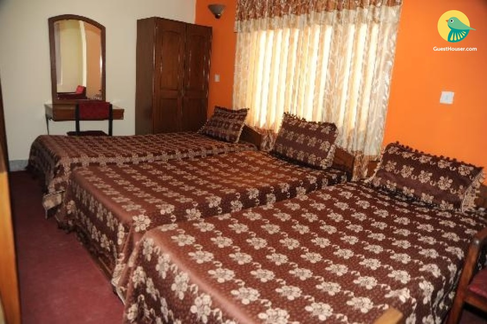 Triple bedded rooms to stay