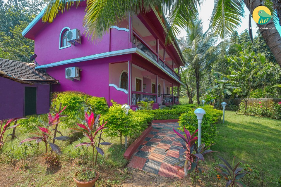 6-bedrooms guest house, 1.3 km from Benaulim Beach