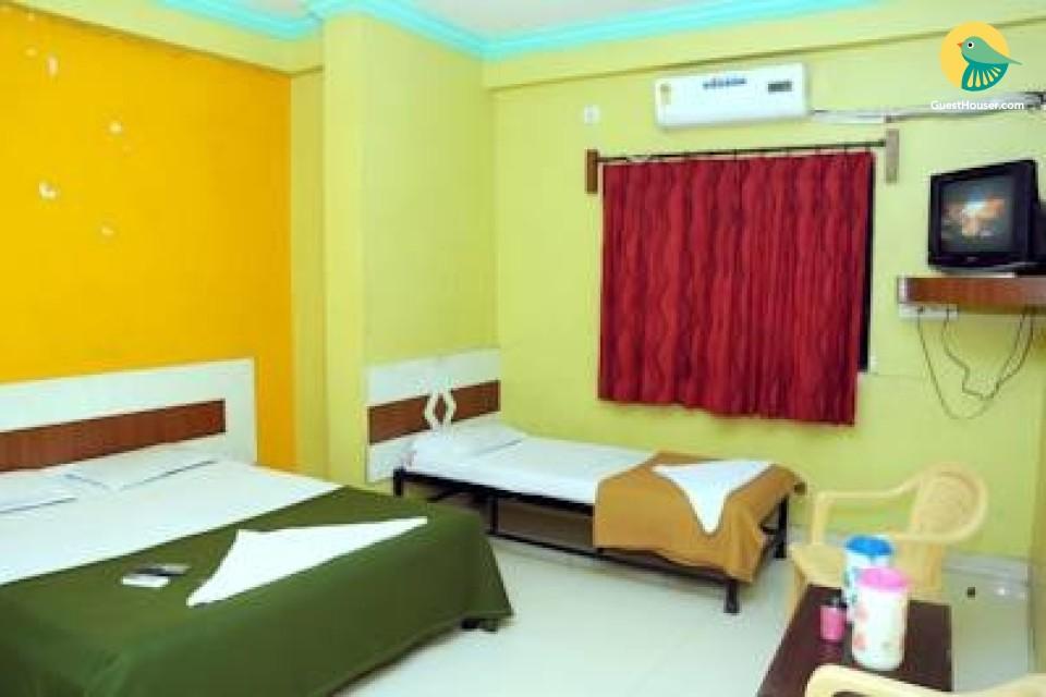 Budget AC room near Sai Baba temple