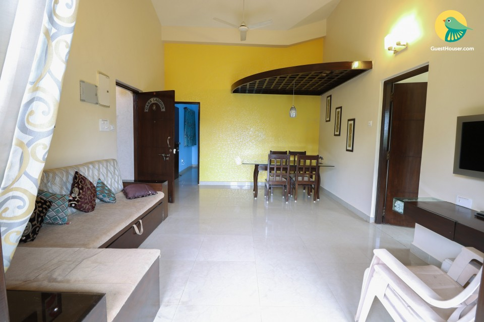 Commodious 2-bedroom apartment, 1.8 km from Calangute beach