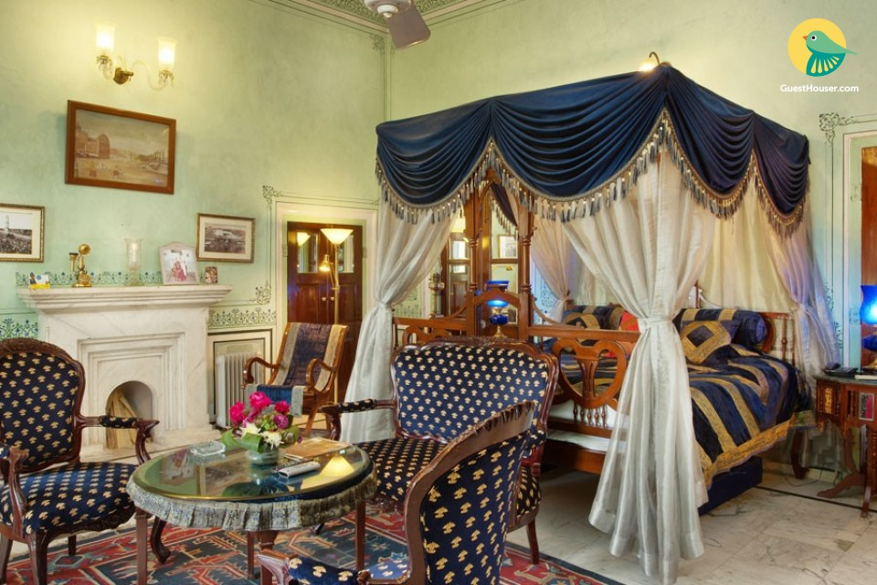 Luxurious heritage accommodation for 3, close to Hawa Mahal