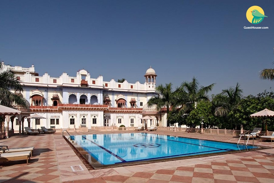 Luxurious stay in a haveli-style property with a pool