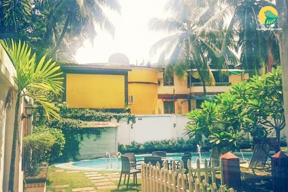 Tastefully done 1 BHK, 2.5 km from Calangute Beach