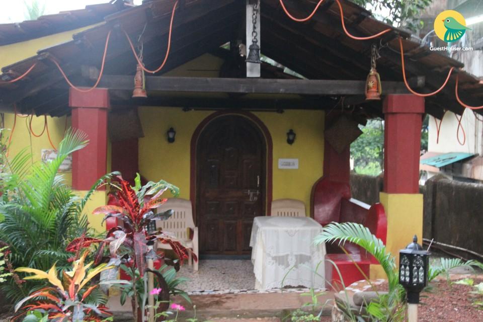 Rustic 3-bedroom villa in Mapusa