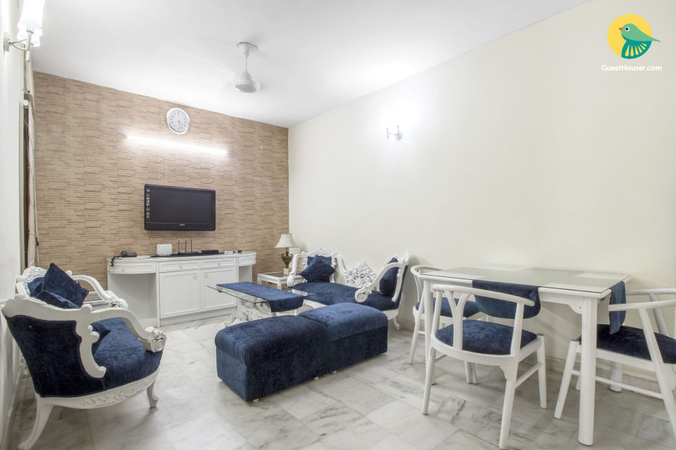 Well-appointed 3 BHK, ideal for group stays