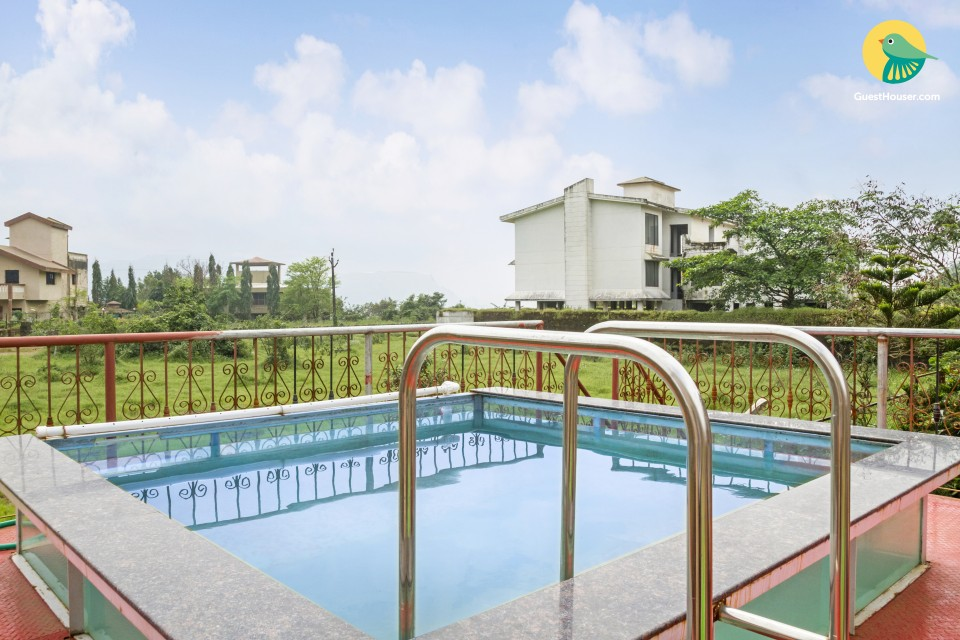 Rejuvenating 3-BR bungalow, with a pool