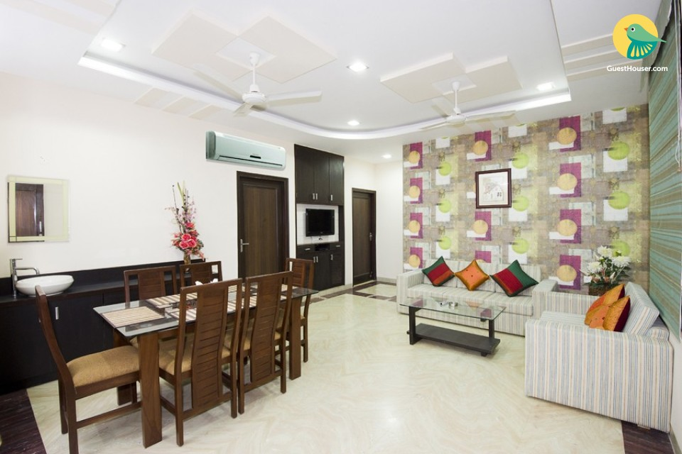 Contemporary 2 BHK accommodation, ideal for a small group