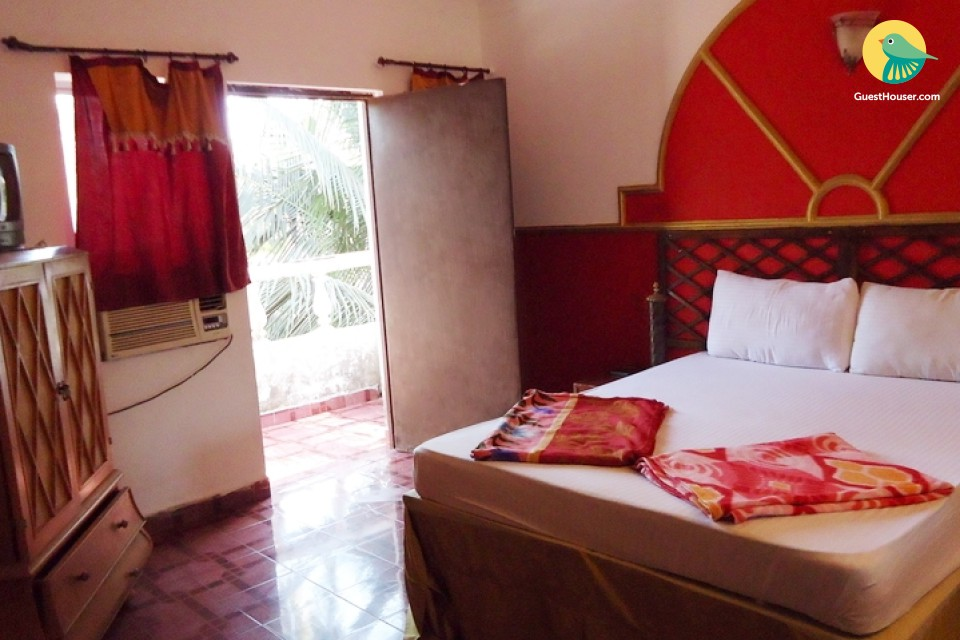 Comfortable room for three, 1 km from Baga beach