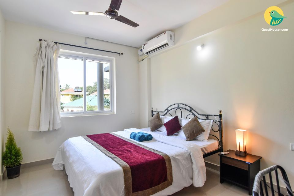 Chic 2-BR apartment with shared pool, close to Benaulim Beach