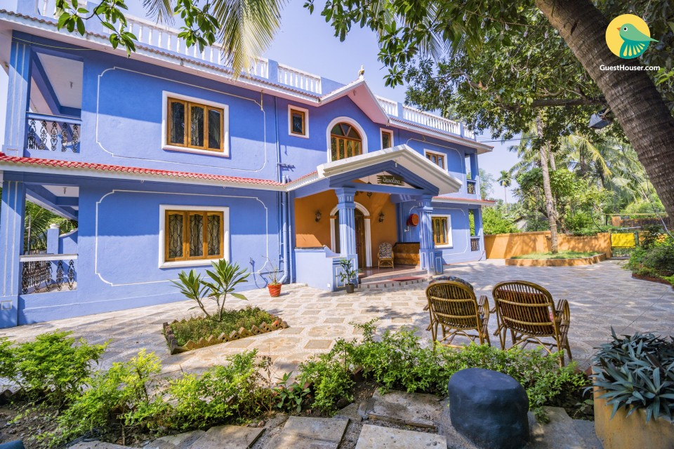 10-bedroom boutique stay, 260m away from Candolim beach