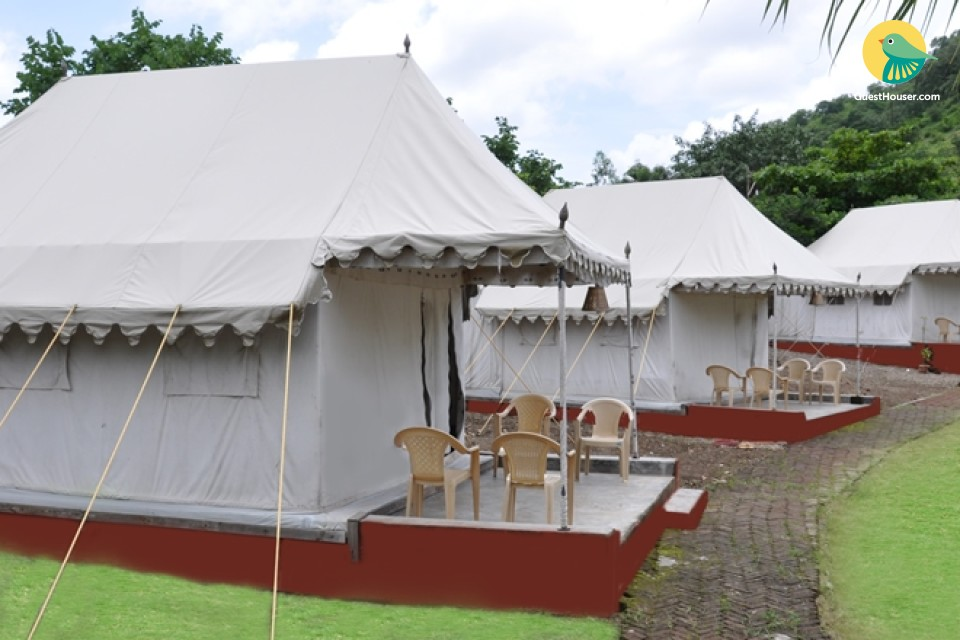 Elegant Swiss cottage tents near Ellora caves
