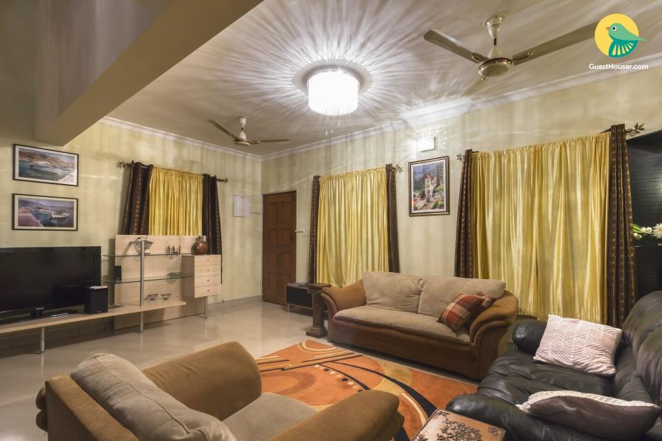 Homely 4-BR villa with a splash pool, near Benaulim Beach