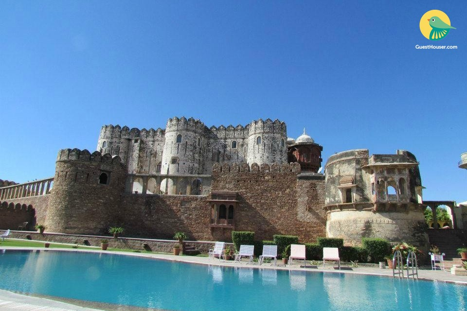 Experience royal stay in Castle with swimming pool