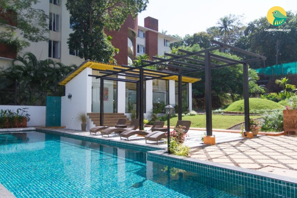 1 BHK with pool, close to Candolim Beach