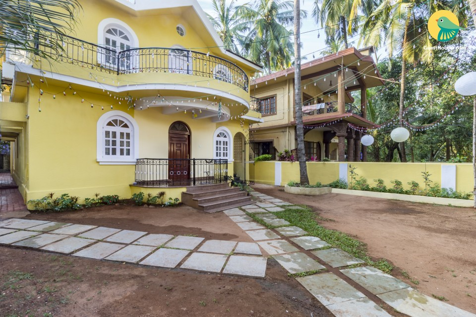 Homely 4-BR villa, 1.3 km from Calangute Beach
