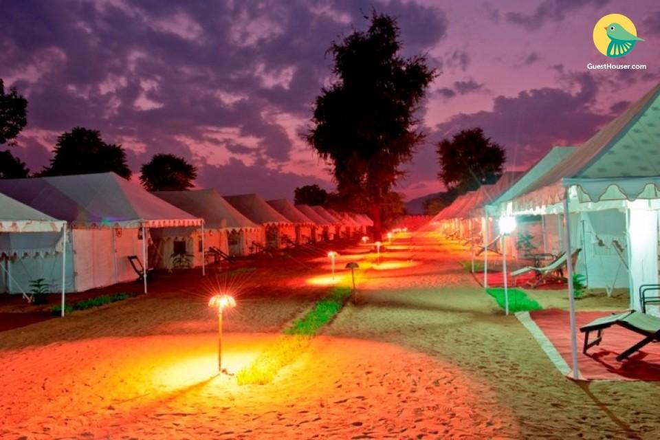 Luxury tents in Pushkar Mela