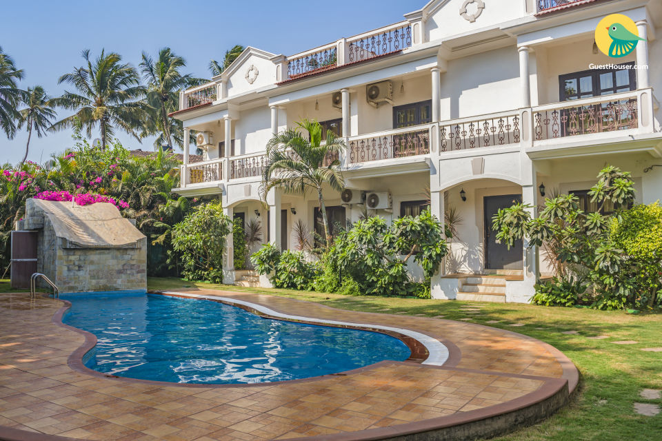 3-bedroom villa with a pool, near Calangute Beach