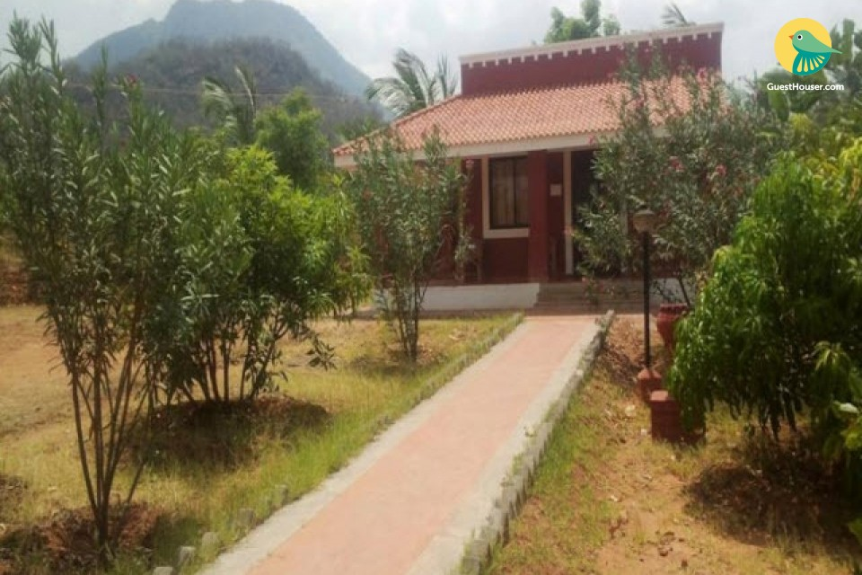 Tranquil stay for 3 amidst hills, with a pool