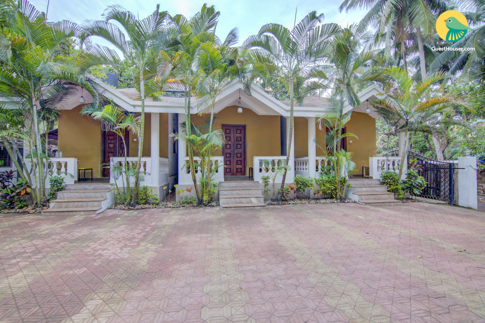 6-BR relaxing retreat for friends, 1.6 km from Vagator Beach