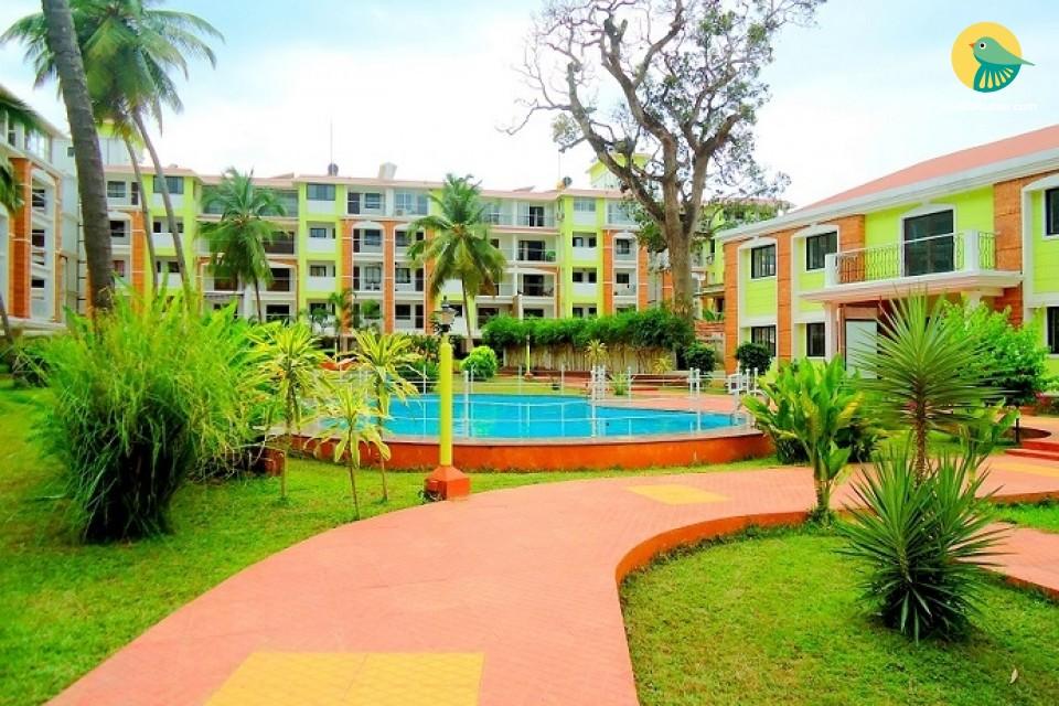 2-BHK apartment for six, near Candolim Beach