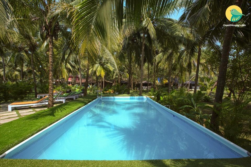 Luxurious 1-BR cottage, close to Morjim Beach