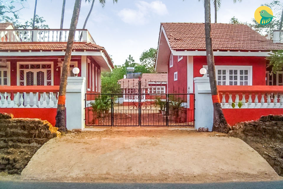 Villa room perfect for backpackers, 1 km from Anjuna Beach