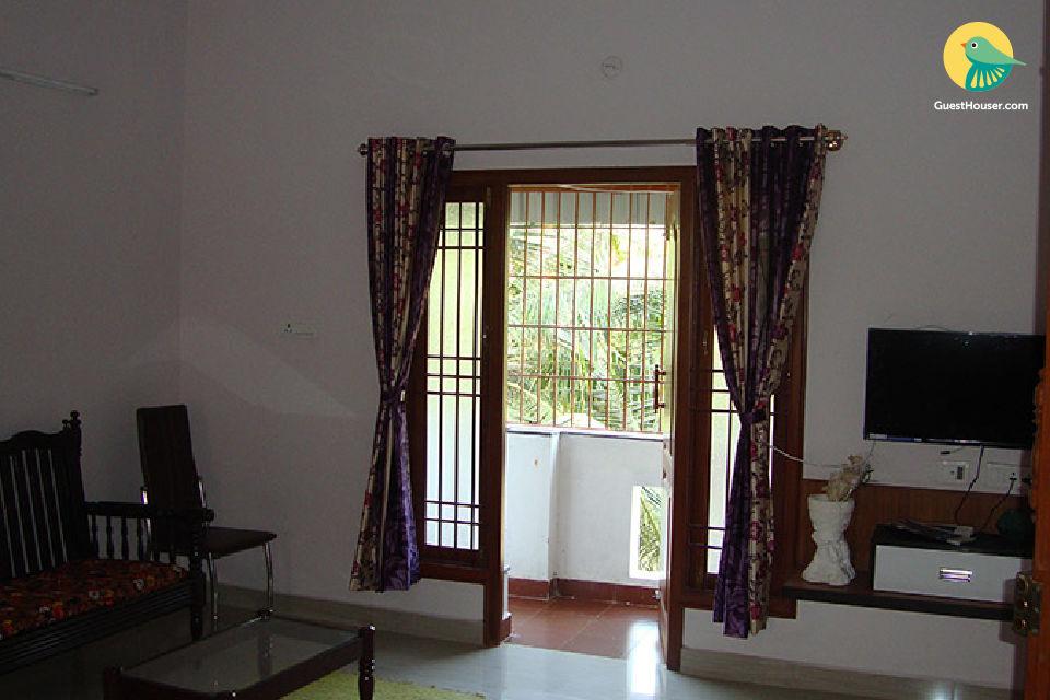 Garden view 2 Bedroom Apartment in Puducherry