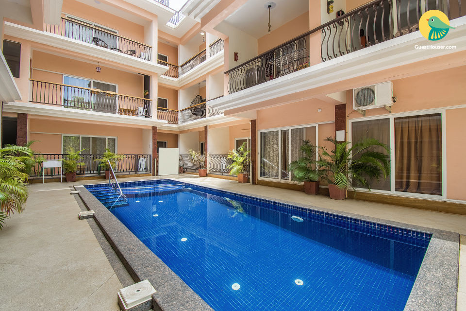 Snazzy 2 BHK with a pool, near Thalassa