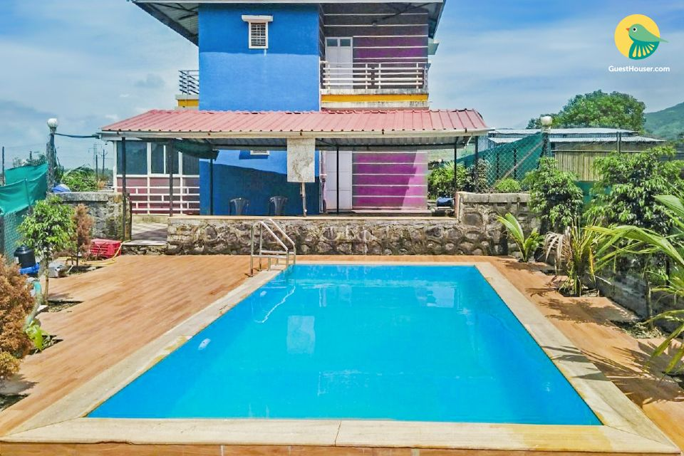 Contemporary 5-BR bungalow, with a private pool