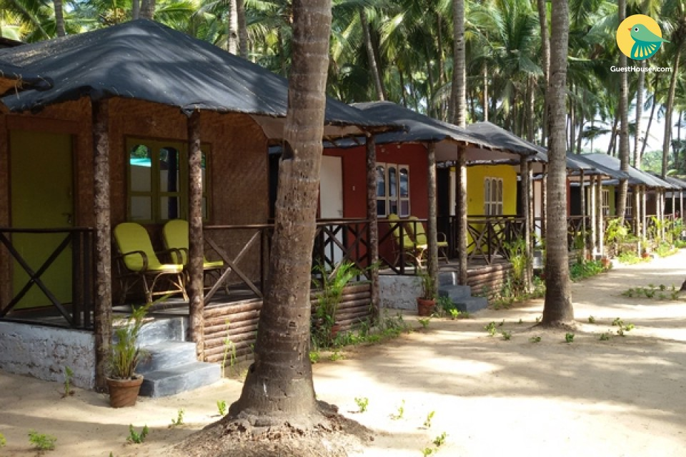 Beachside cottage for two at Agonda beach