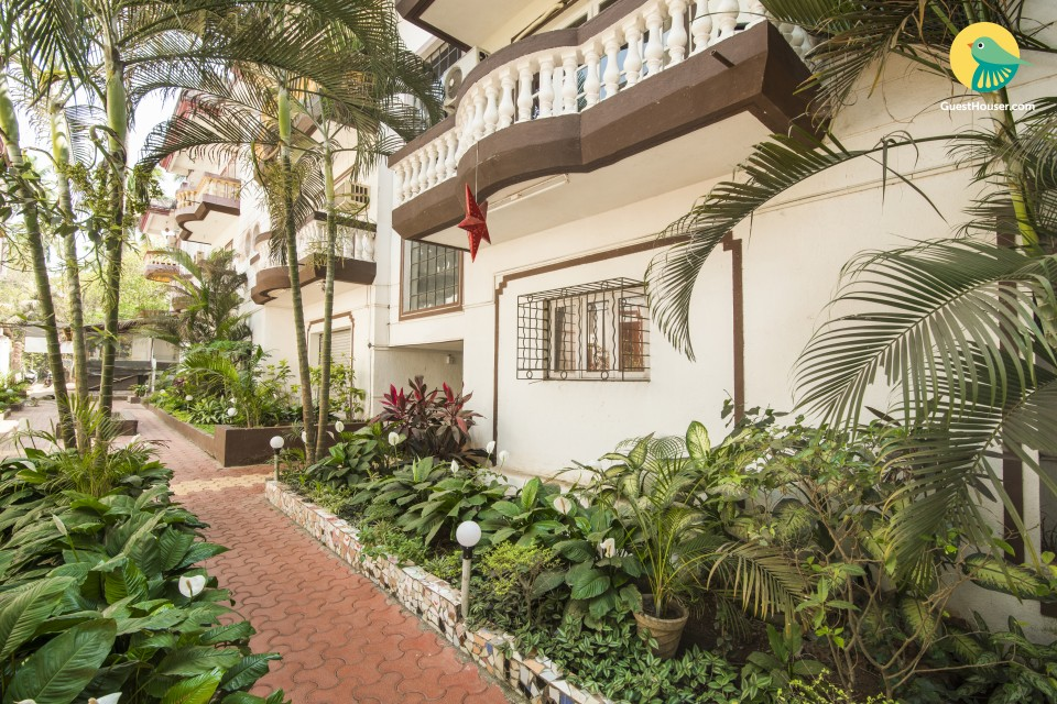 Pet-friendly 1-BR apartment, 1.6 km away from Calangute Beach
