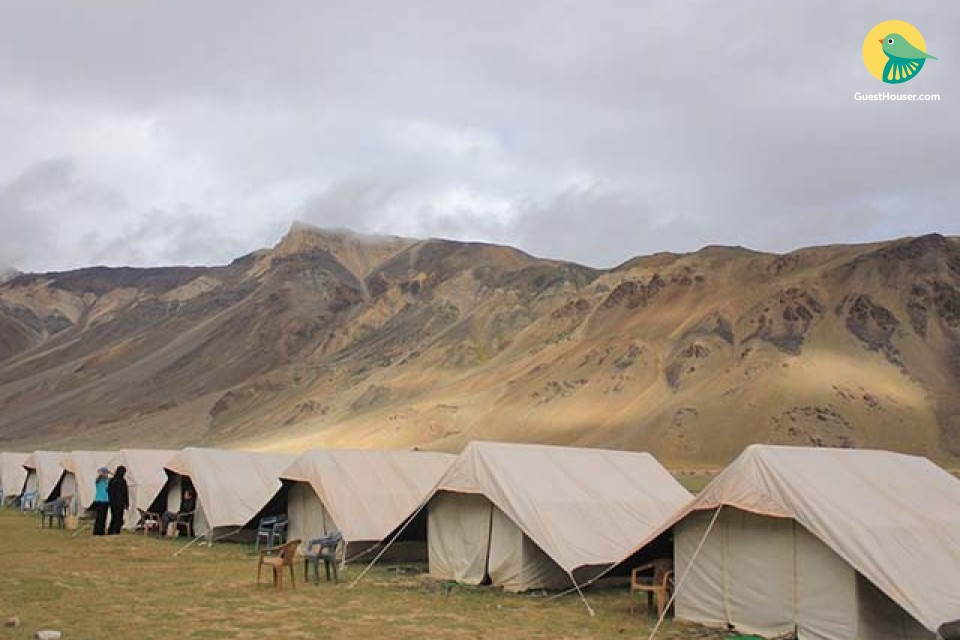 Well-furnished tent amidst serene environs