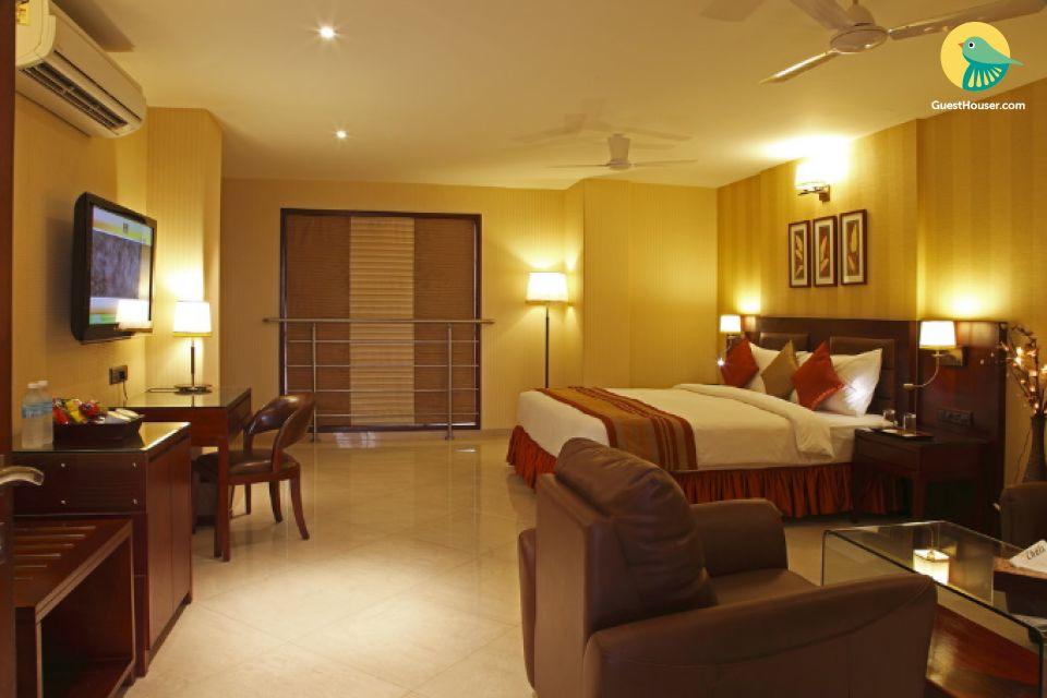 Well-furnished room for a rejuvenating getaway