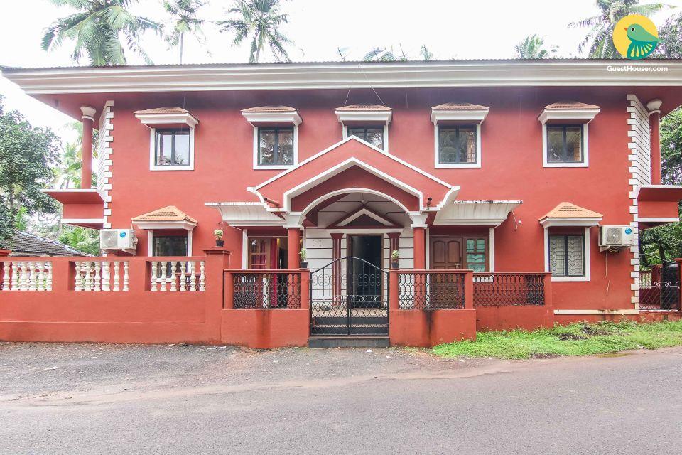 Rustic 5-BR villa, 2.9 km from Baga Beach