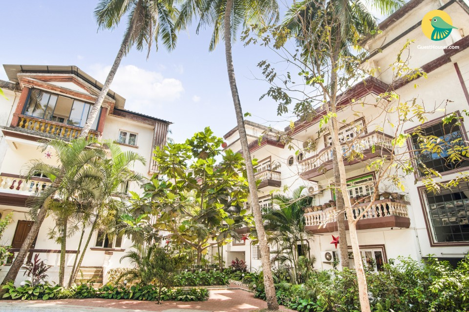 1-BR apartment, 1.8 km away from Calangute Beach