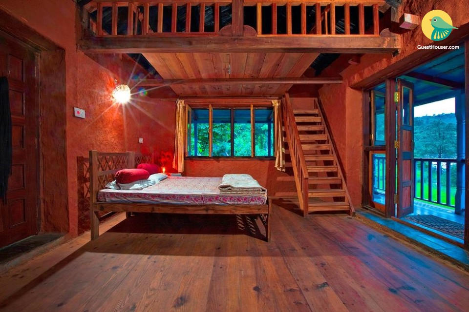 Rustic Chalet-Style Room
