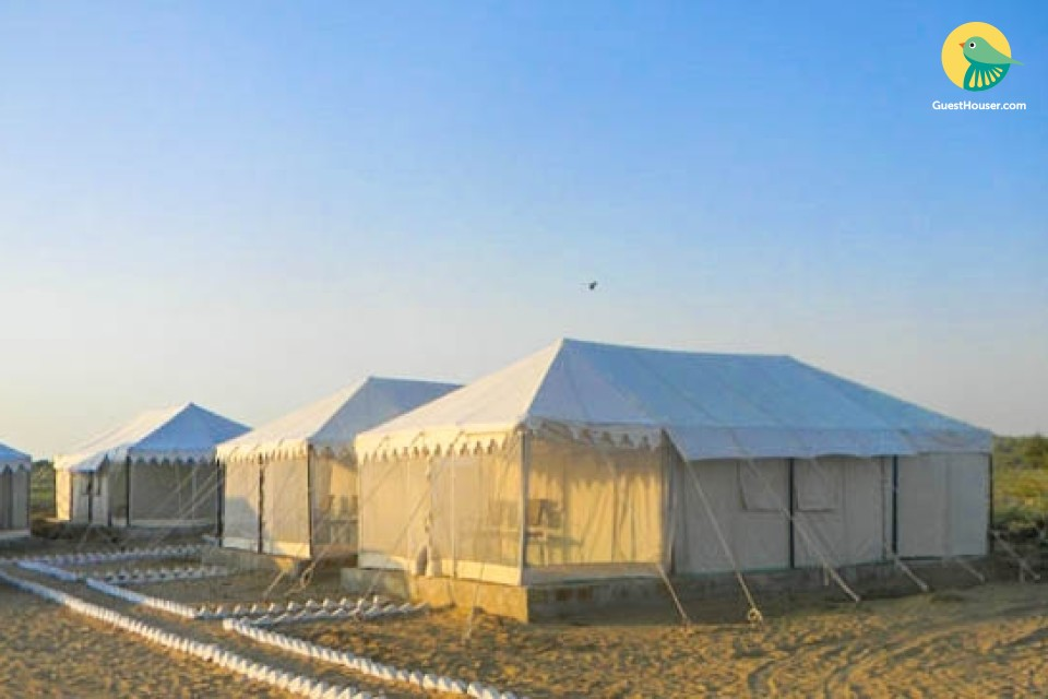 Tranquil stay in a well-appointed tent for three