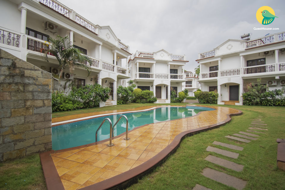 Elegant 3-bedroom villa, 6.1 km from Baga Beach
