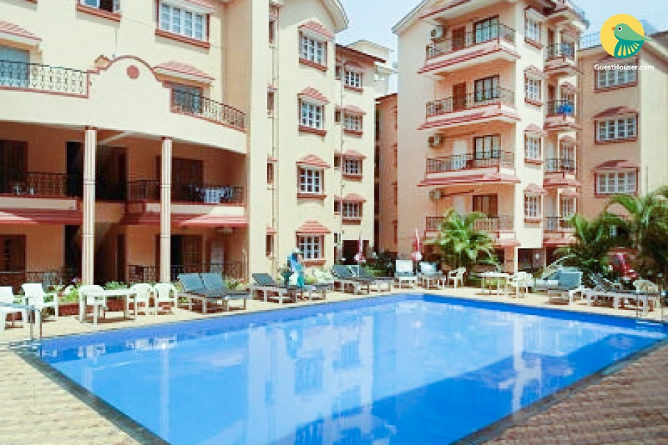 Well-furnished apartment for a family retreat, 500 m from Baga beach