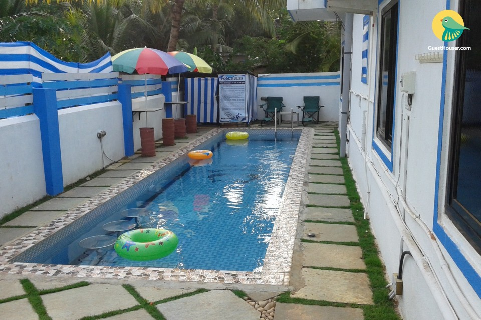 Comfortable room for three, 500 m from Candolim beach